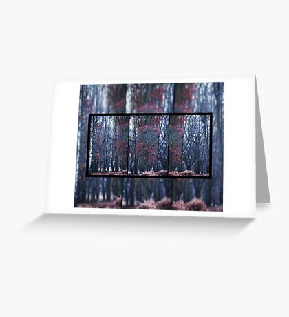 Faerie Trees ~ Fairy Trees With Inner Border  Greeting Card