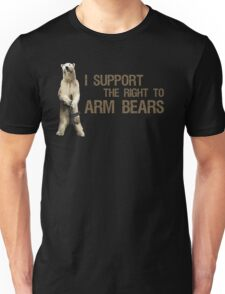 I Support the Right to Arm Bears, Polar Bears Unisex T-Shirt