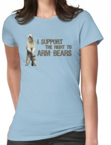 I Support the Right to Arm Bears, Polar Bears Womens Fitted T-Shirt