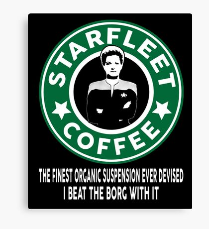 There's Janeway's Coffee in That Nebula! Canvas Print