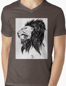 THE LION OF FREEDOM! Mens V-Neck T-Shirt