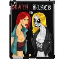 Death Metal Vs. Black Metal: Battle Of The Metals iPad Case/Skin