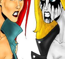Death Metal Vs. Black Metal: Battle Of The Metals Sticker