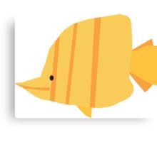 Stripy Yellow Fish Canvas Print