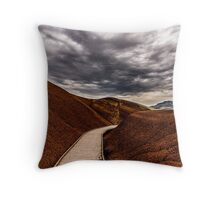Walking the Red Hill Throw Pillow