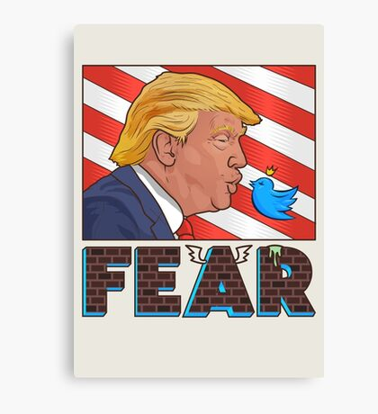 the president of fear Canvas Print