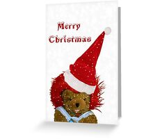 A Snowflake Christmas for Teddy Greeting Card