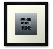 Running on Half Tone Framed Print