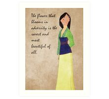 Mulan inspired design. Art Print