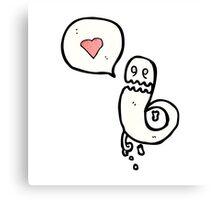 ghost in love cartoon Canvas Print