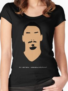 ibrahimovic face Women's Fitted Scoop T-Shirt