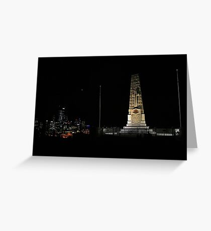 Lunar Eclipse - Perth, Western Australia Greeting Card