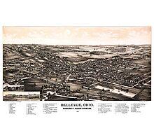 Bellevue - Ohio - 1888 Photographic Print