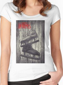 Dreaming Of A White Christmas Women's Fitted Scoop T-Shirt