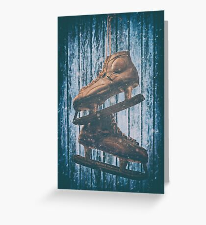 The Old Skates Greeting Card