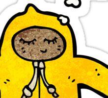cartoon person in raincoat Sticker