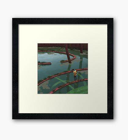 Vattenfyllt Bågrum Framed Print