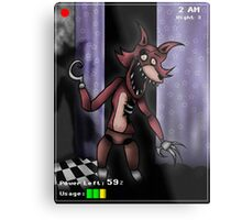 Five Night's at Freddy's - Foxy Metal Print