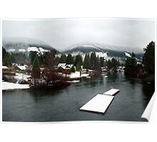 Cowichan River from the Duck Pond Bridge (Lake Cowichan, Vancouver Island, British Columbia, Canada) Poster