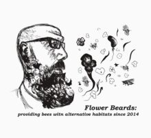 Flower Beard=Alternative bee habitat (Blurb) by dreamsplats