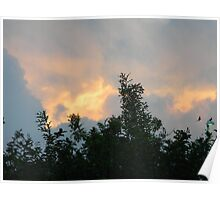 Clouds on Fire - Sunrise and Sun Facts Poster