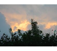 Clouds on Fire - Sunrise and Sun Facts Photographic Print