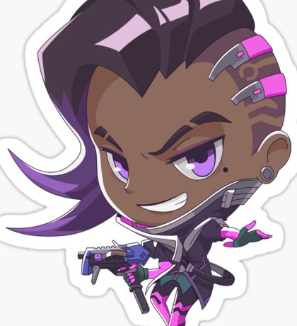 Sombra (Purple Background) Sticker