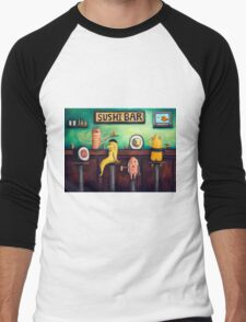 Sushi Bar Men's Baseball ¾ T-Shirt