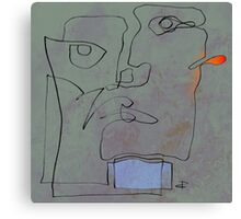 squiglehead with blue scalf and red ear - painting Canvas Print