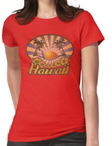 Hawaii Paradise Surf Beach Womens Fitted T-Shirt