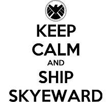 Keep Calm and Ship Skyeward Photographic Print