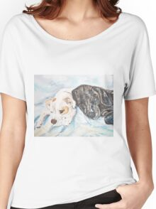 Dogs Resting  Women's Relaxed Fit T-Shirt