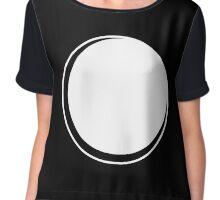 Minimalistic Eclipse - White Vers. Chiffon Top