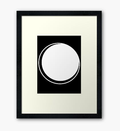 Minimalistic Eclipse - White Vers. Framed Print