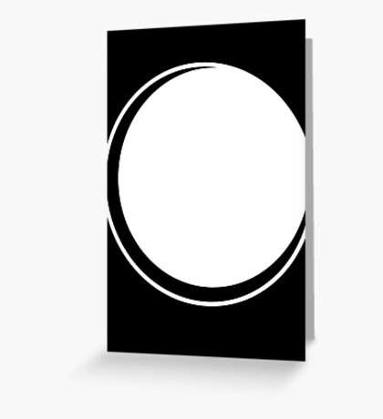 Minimalistic Eclipse - White Vers. Greeting Card