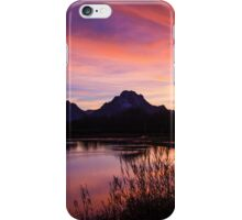 A Teton Sunset iPhone Case/Skin