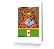 Cat Poker Greeting Card