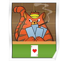 Cat Poker Poster
