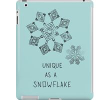 UNIQUE AS A SNOWFLAKE iPad Case/Skin