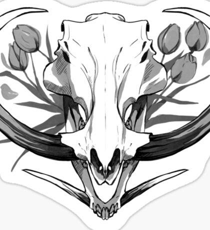 Warthog and Tulips Sticker