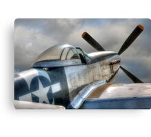 P51 Mustang - Ready for action Canvas Print