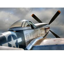 P51 Mustang - Ready for action Photographic Print