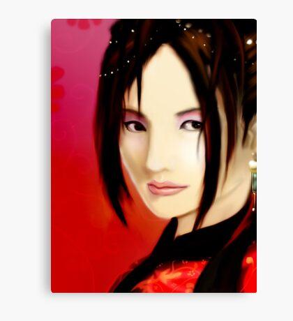Crimson Lady Canvas Print