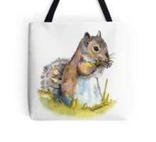 Squirrel Tasting a Flower Tote Bag