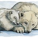 Polar Bears Sleeping 492 by schukinart