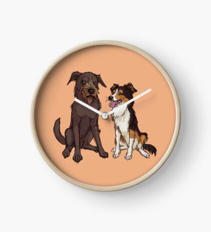 Two Good Doggos Clock