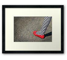 4th July Foot Framed Print