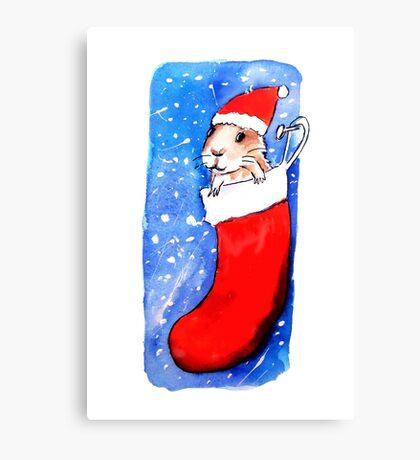 Christmas Guinea Pig Canvas Print