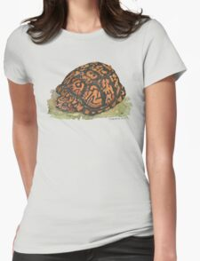 Eastern Box Turtle Womens Fitted T-Shirt