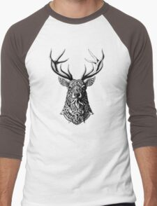 Ornate Buck Men's Baseball ¾ T-Shirt